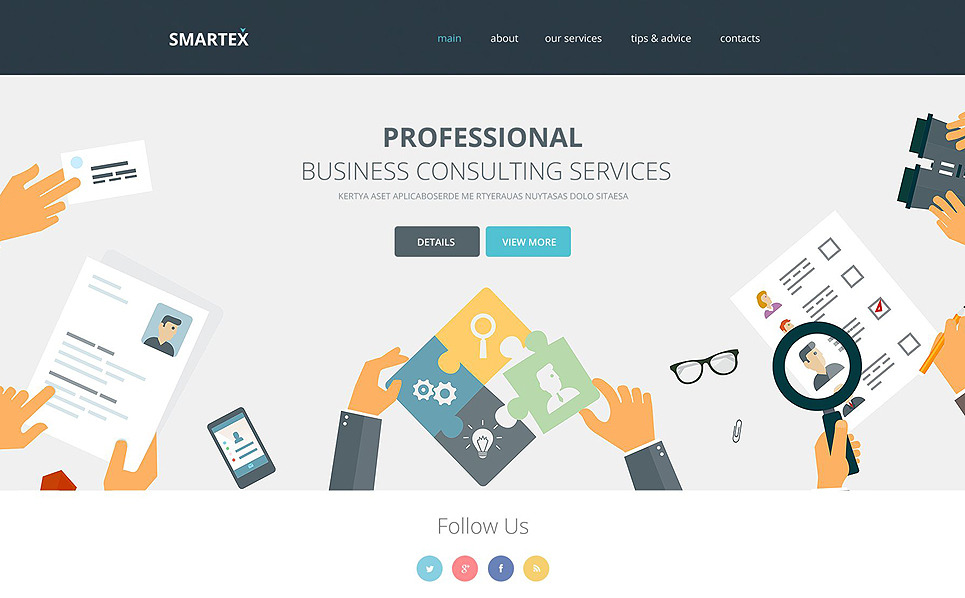 Адаптивний Шаблон сайтів на тему бізнес та послуги New Screenshots BIG