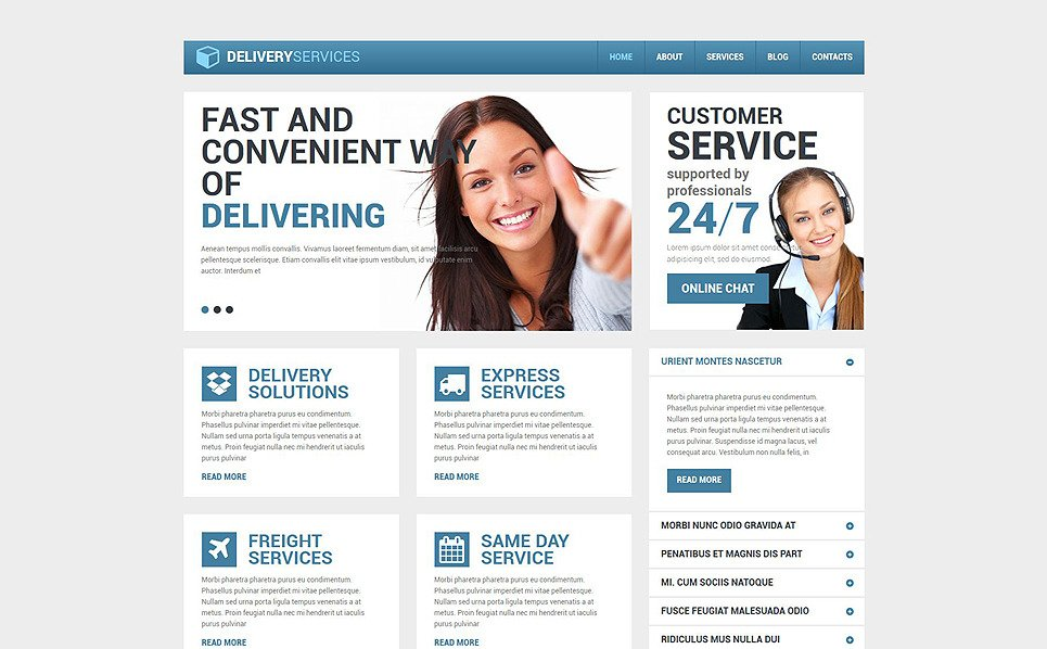 Responsive Drupal Template over Levering Diensten  New Screenshots BIG