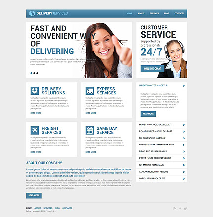 Drupal Template 53556 Main Page Screenshot