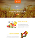 Agriculture Landing Page  Template 53562