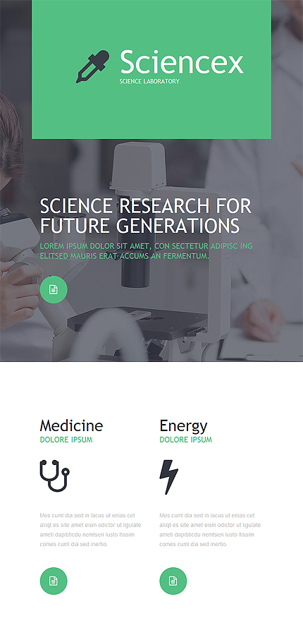 Science Newsletter Template No 53565 Newsletter Templates