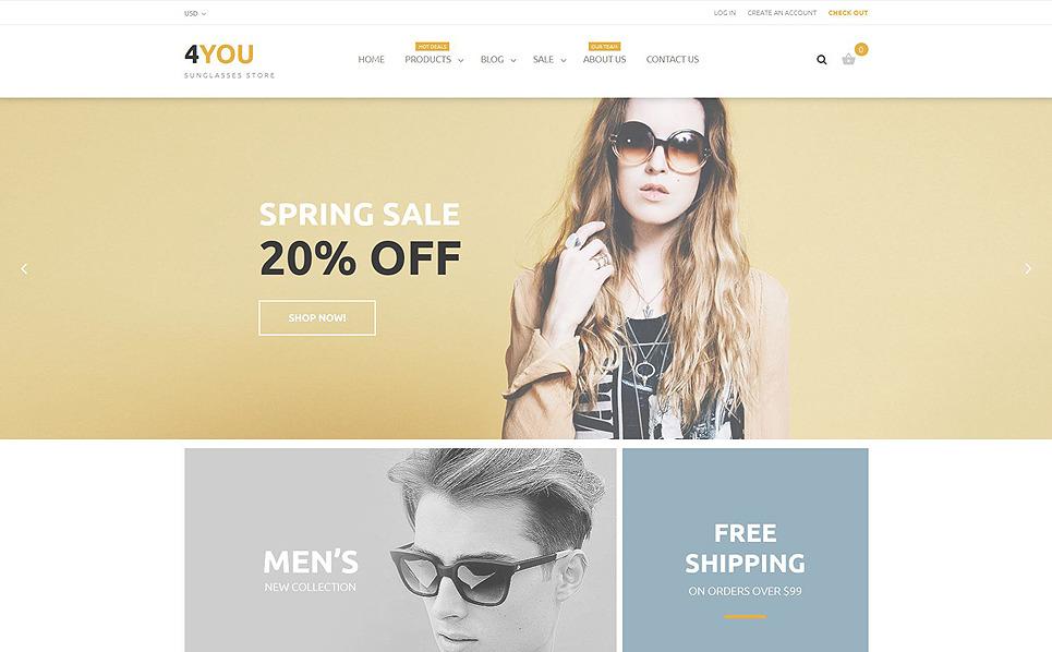 Responzivní Shopify motiv na téma Brýle New Screenshots BIG