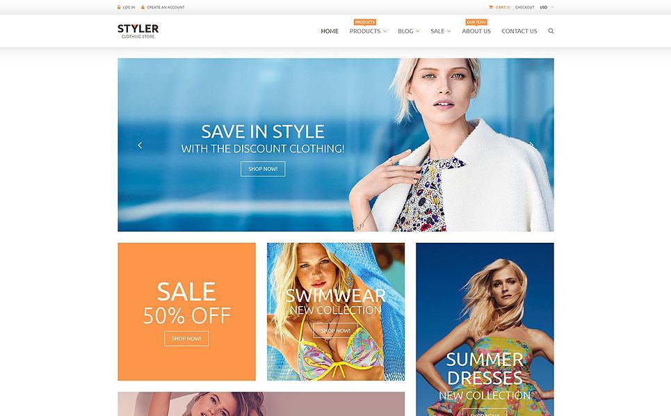 Responsywny szablon Shopify #53569 na temat: odzież New Screenshots BIG