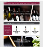 Food & Drink osCommerce  Template 53582