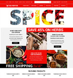 Food & Drink osCommerce  Template 53584