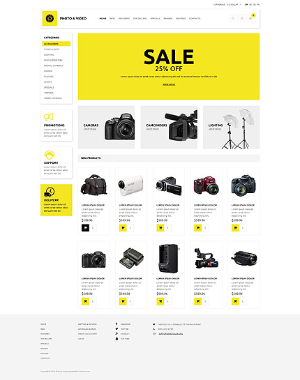 osCommerce Template 53585 Main Page Screenshot