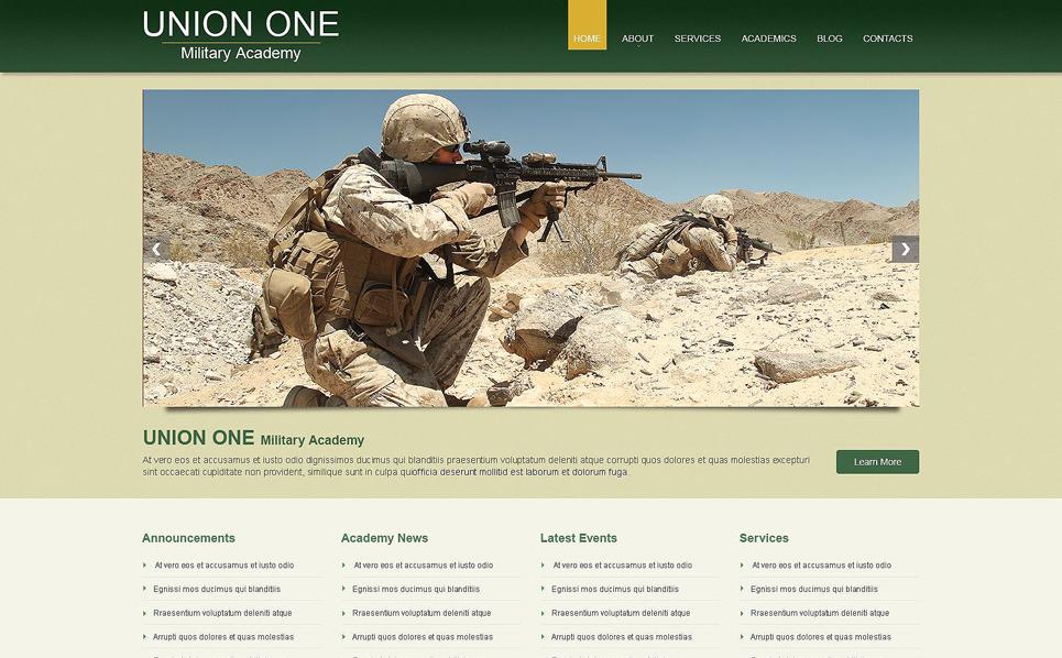 Responzivní WordPress motiv na téma Vojenská škola New Screenshots BIG