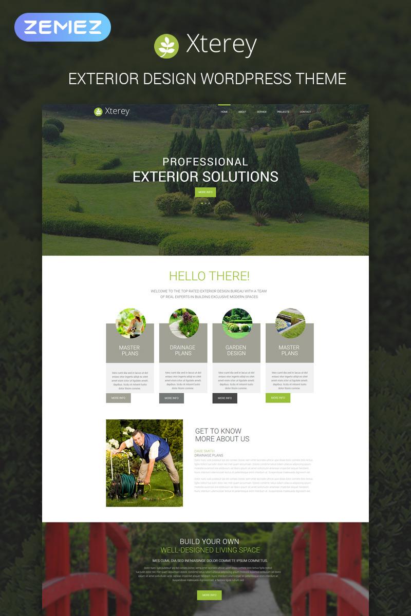 Адаптивный шаблон сайта на тему дизайн экстерьера #53590