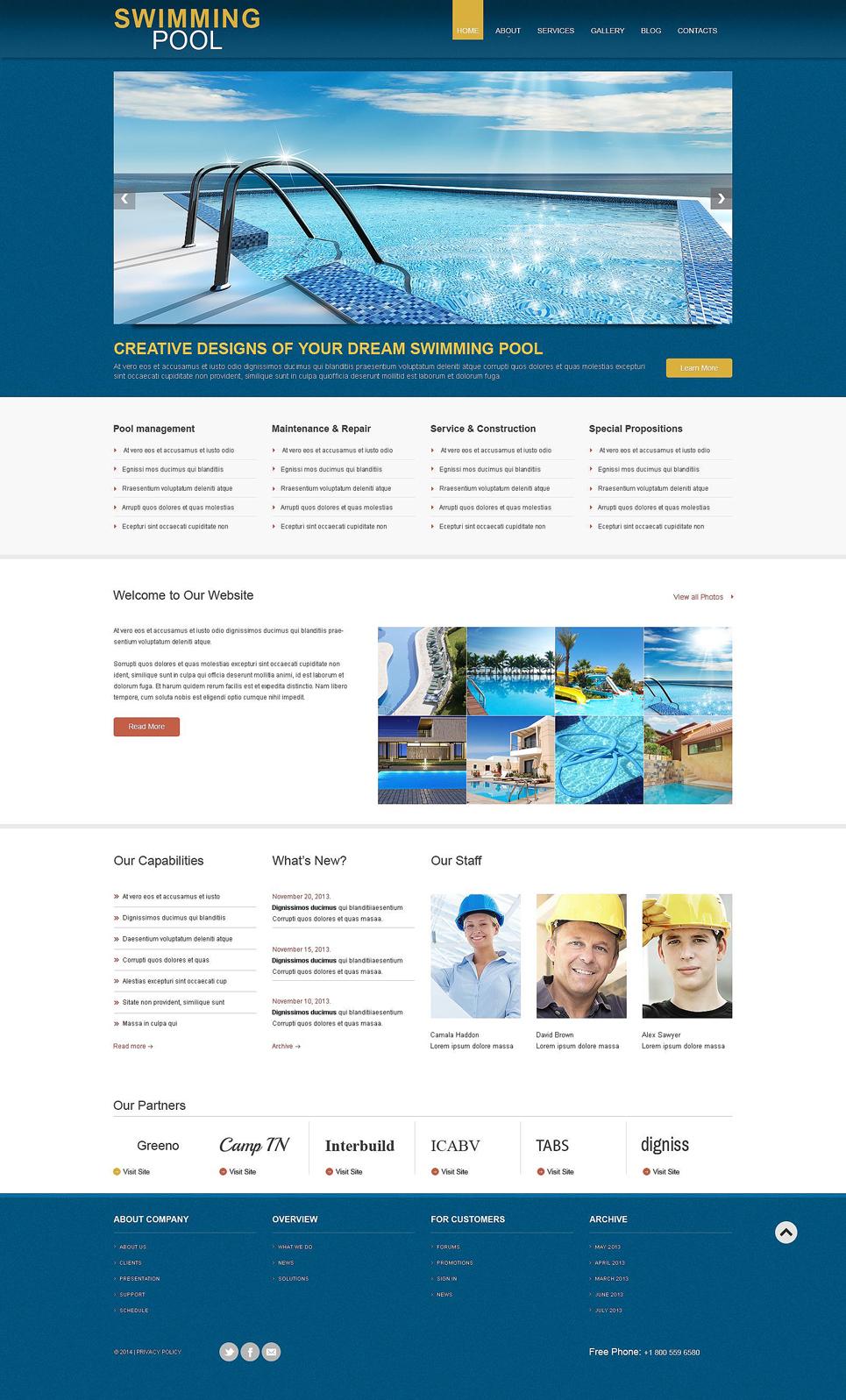 Адаптивный шаблон сайта на тему строительные компании #53597