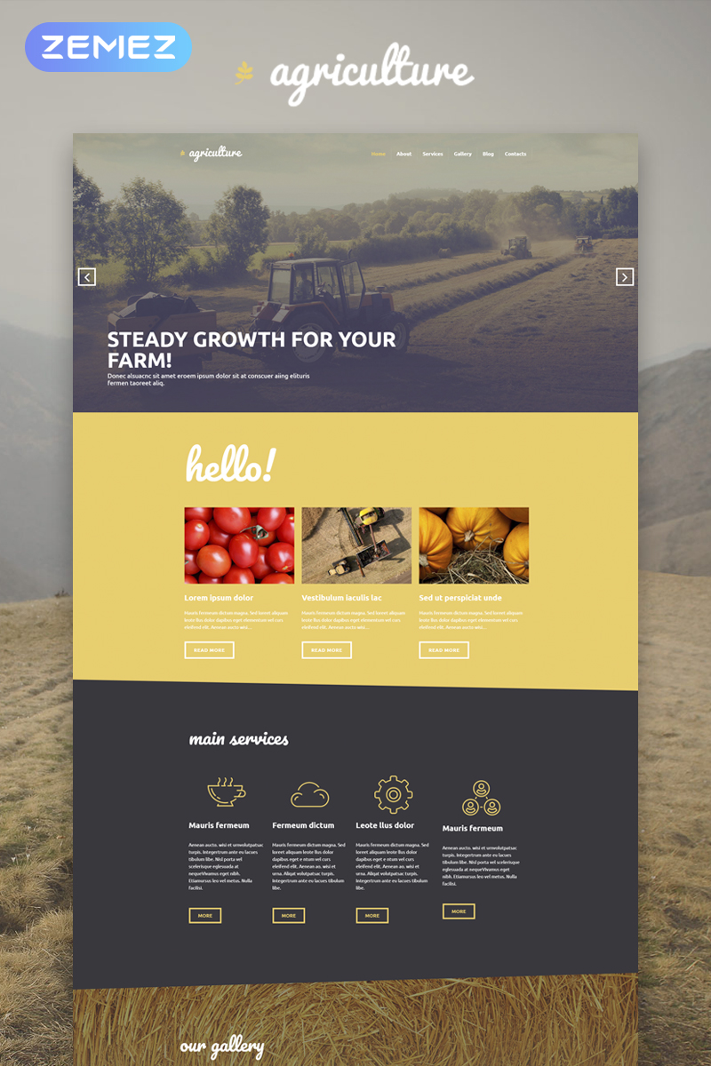 """Agriculture - Crop Farming Elementor"" - адаптивний WordPress шаблон №53592"