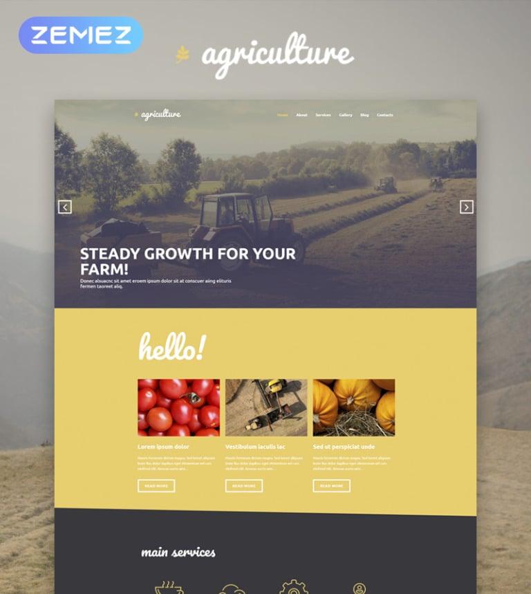 Agriculture - Crop Farming Elementor WordPress Theme