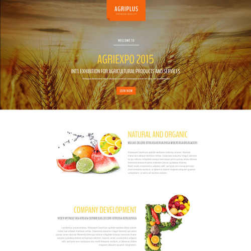 Agriplus - Responsive Landing Page Template
