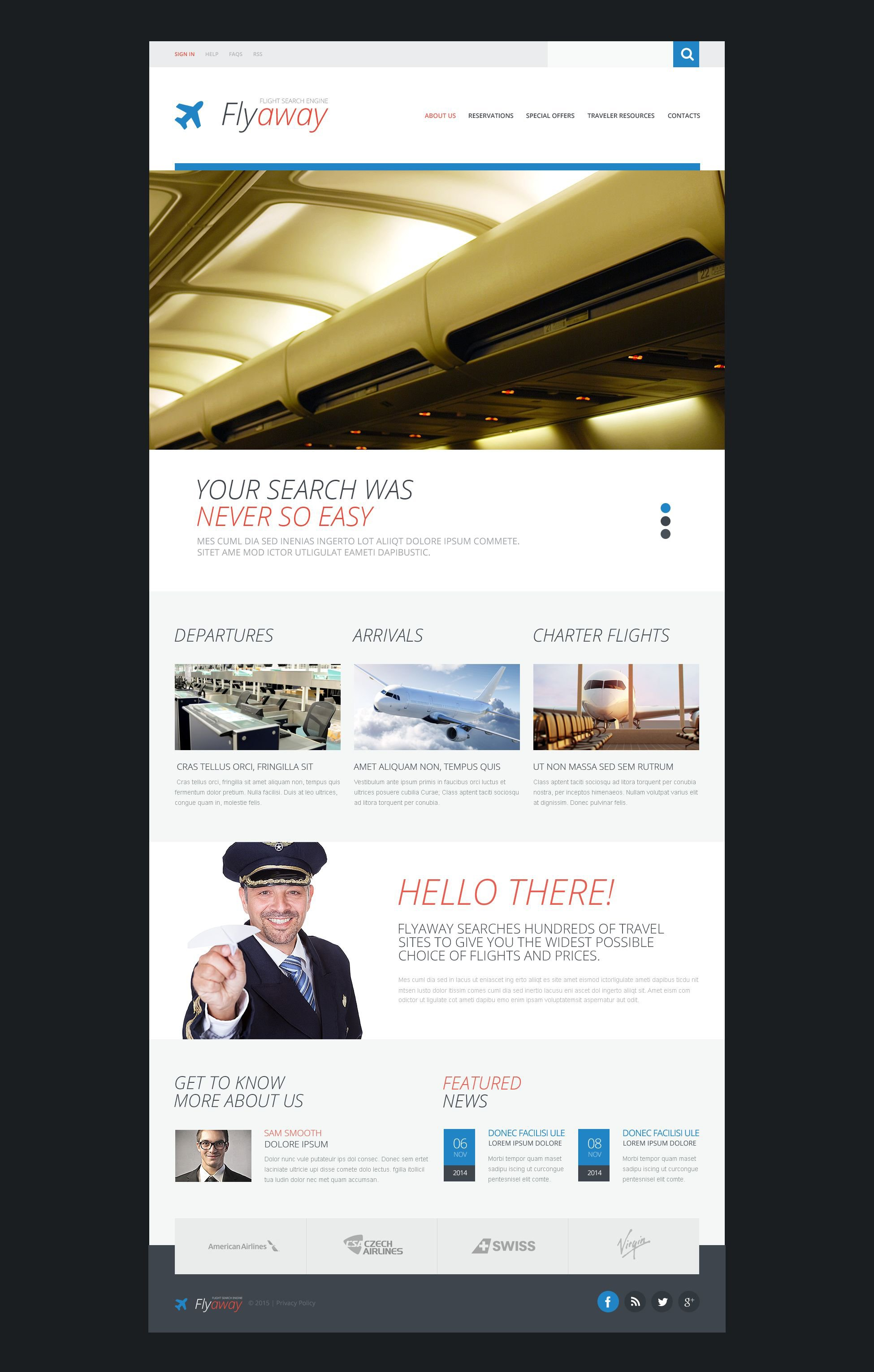 Airline Tickets Template Web №53574