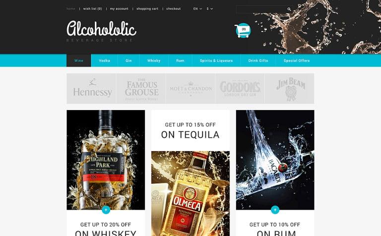 Alcoholic Beverages Store PrestaShop Theme