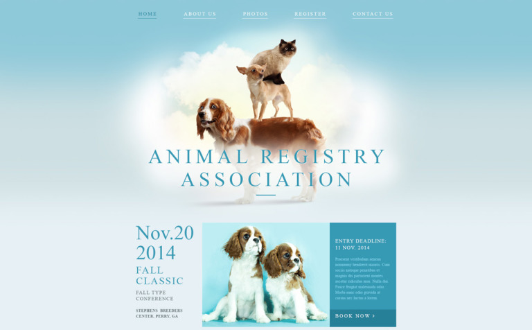 Animal Registry Association Website Template