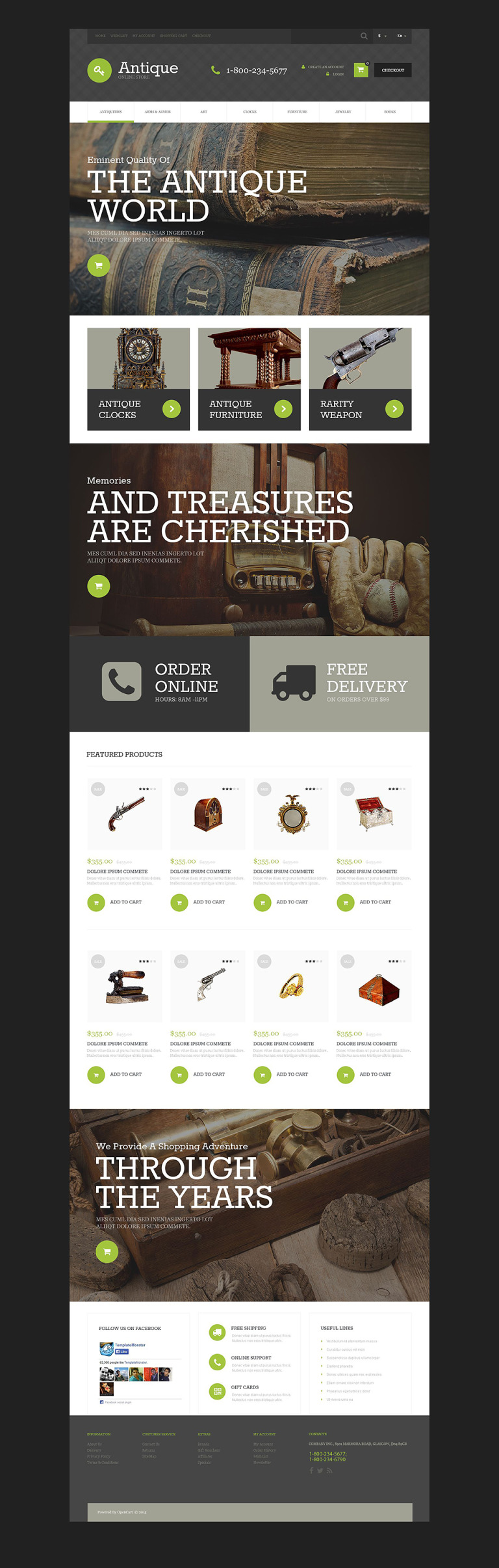 Antique Store OpenCart Template New Screenshots BIG