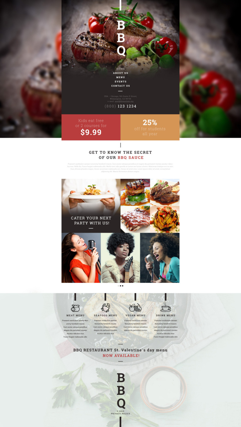 BBQ Restaurant Website Template New Screenshots BIG
