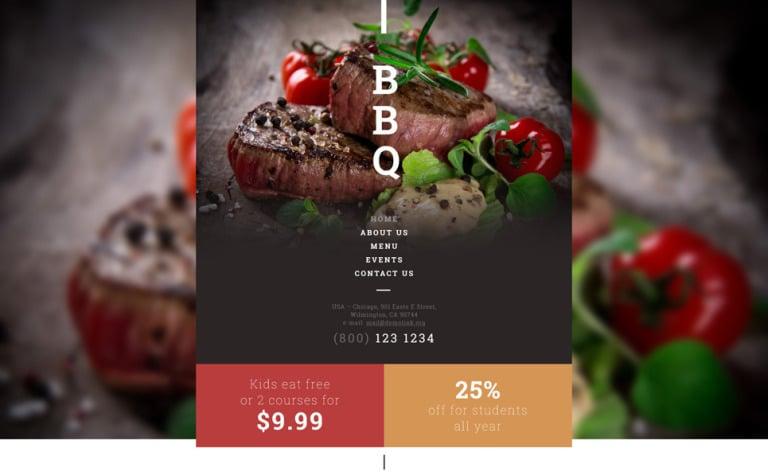 BBQ Restaurant Website Template