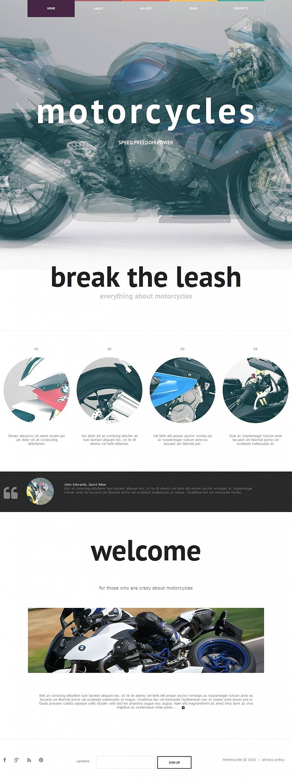 Bike Shop Moto CMS HTML Template New Screenshots BIG