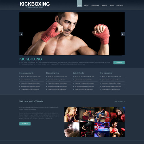 Kickboxing - WordPress Template based on Bootstrap