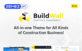 """BuildWall - Construction Company Multipurpose"" Responsive WordPress thema"