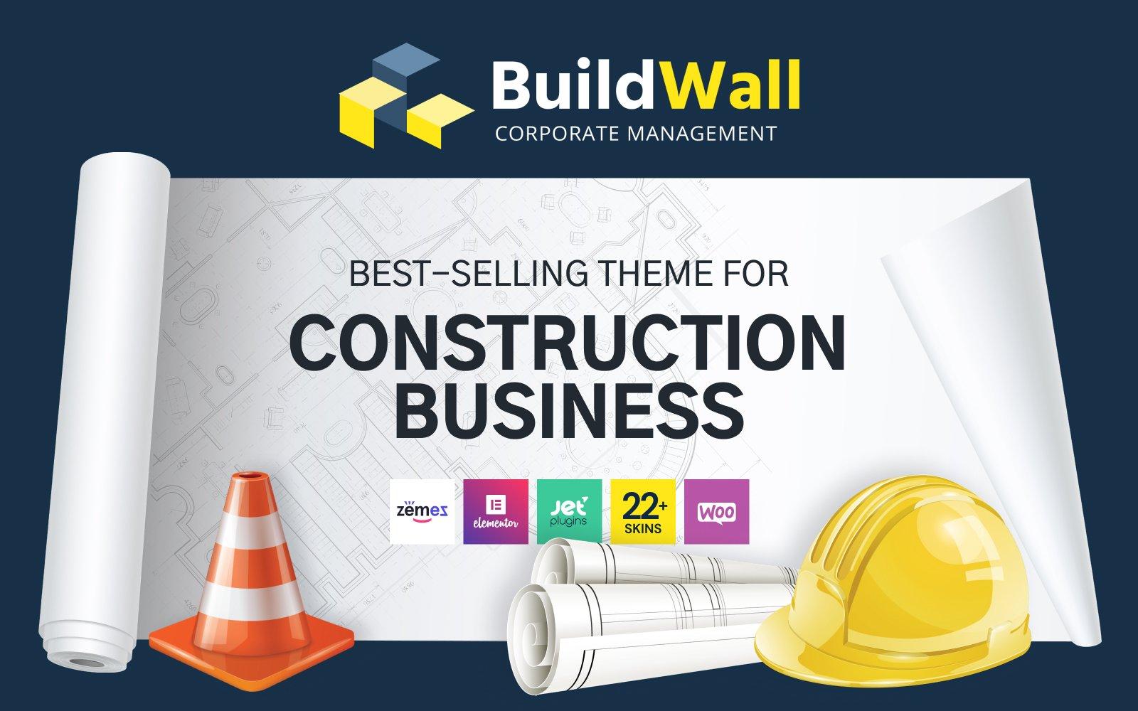 BuildWall - Construction Company Multipurpose WordPress Theme Tema WordPress №53591