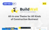 BuildWall - многоцелевой WordPress шаблон сайта строительной компании