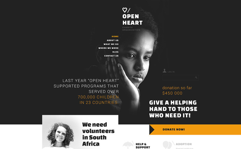 Charitable Donation Joomla Template