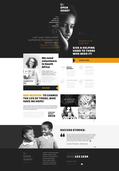 Thème Joomla adaptatif  pour site de charité pour enfants