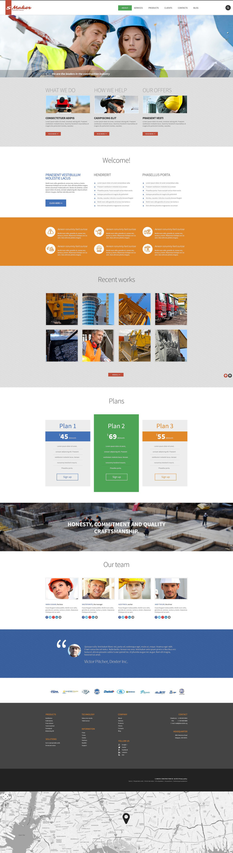 Civil Construction Drupal Template New Screenshots BIG
