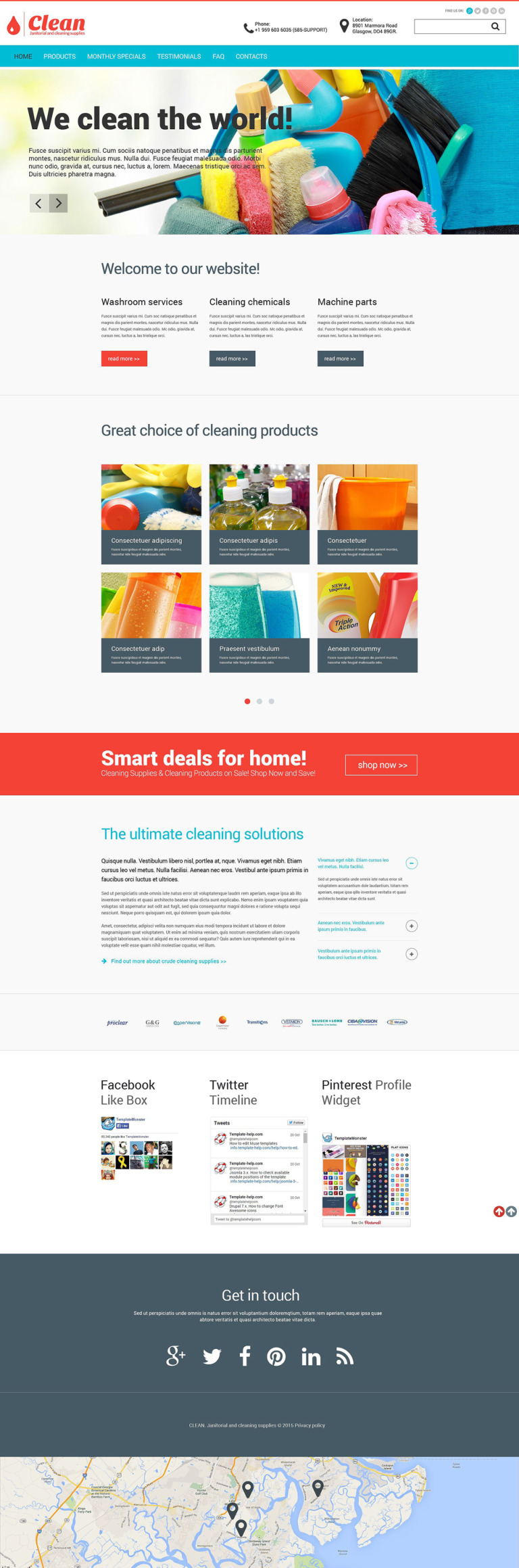 Cleaning Supplies Website Template New Screenshots BIG