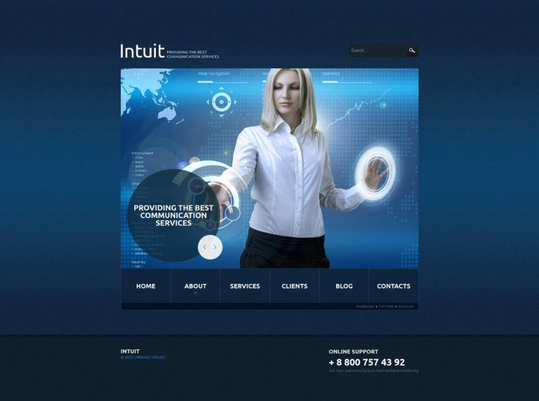 Communications Responsive Joomla Template New Screenshots BIG