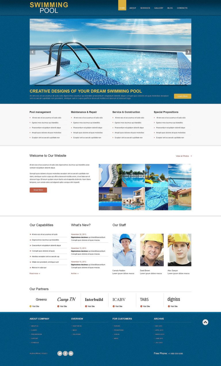 Construction Company Responsive WordPress Theme New Screenshots BIG