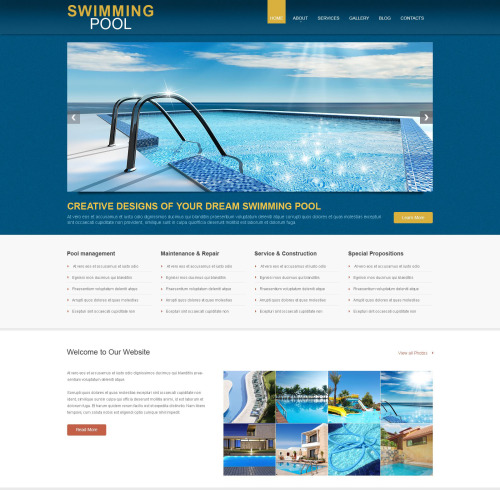 Swimming Pool - WordPress Swimming Pool Template
