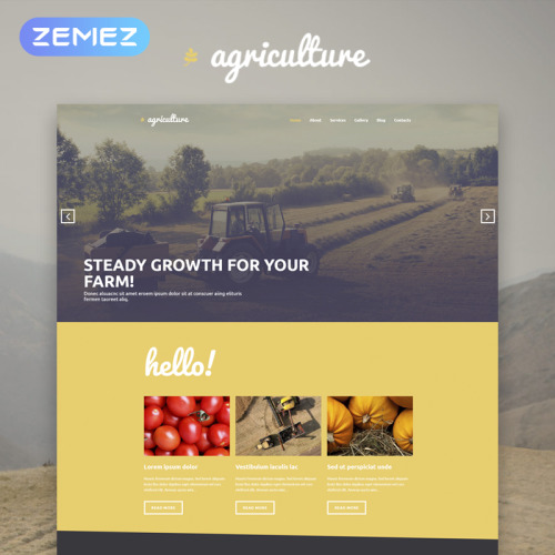 Agriculture - WordPress Template based on Bootstrap