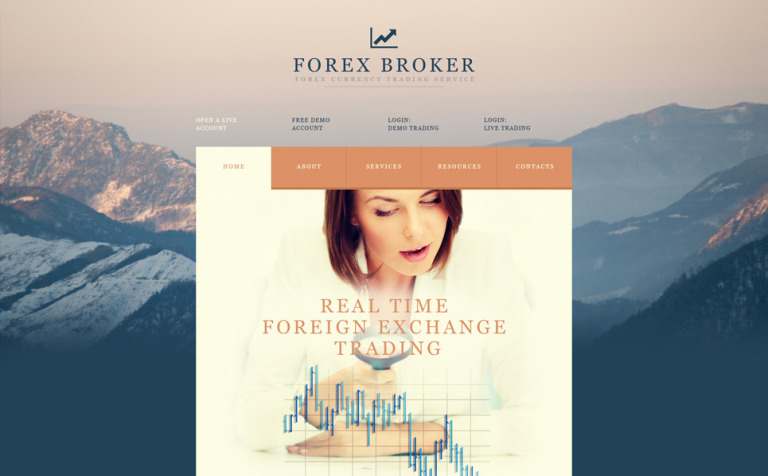 Currency Trading Services Website Template New Screenshots