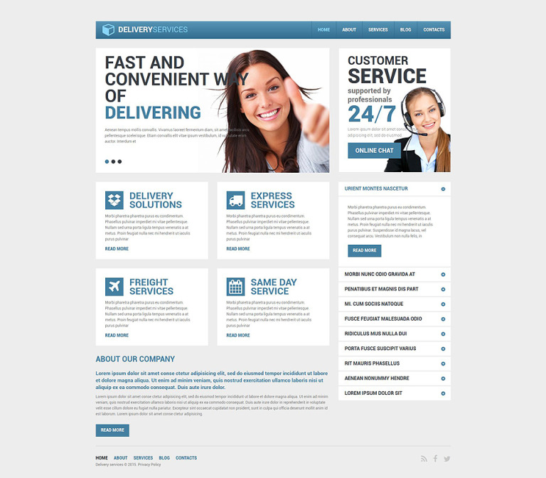 Delivery Services Responsive Drupal Template New Screenshots BIG