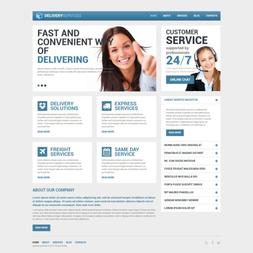 Delivery Services - Drupal Delivery Services Template