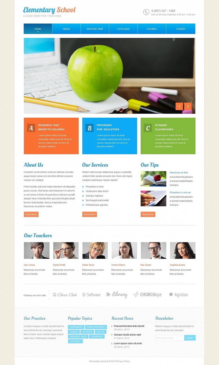 Elementary School Moto CMS HTML Template New Screenshots BIG