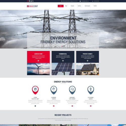 Engcorp - Responsive Website Template