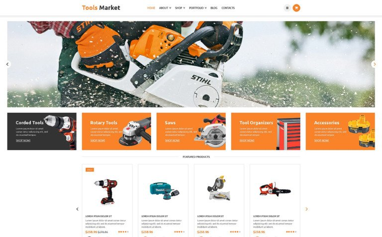 Equipment Market WooCommerce Theme
