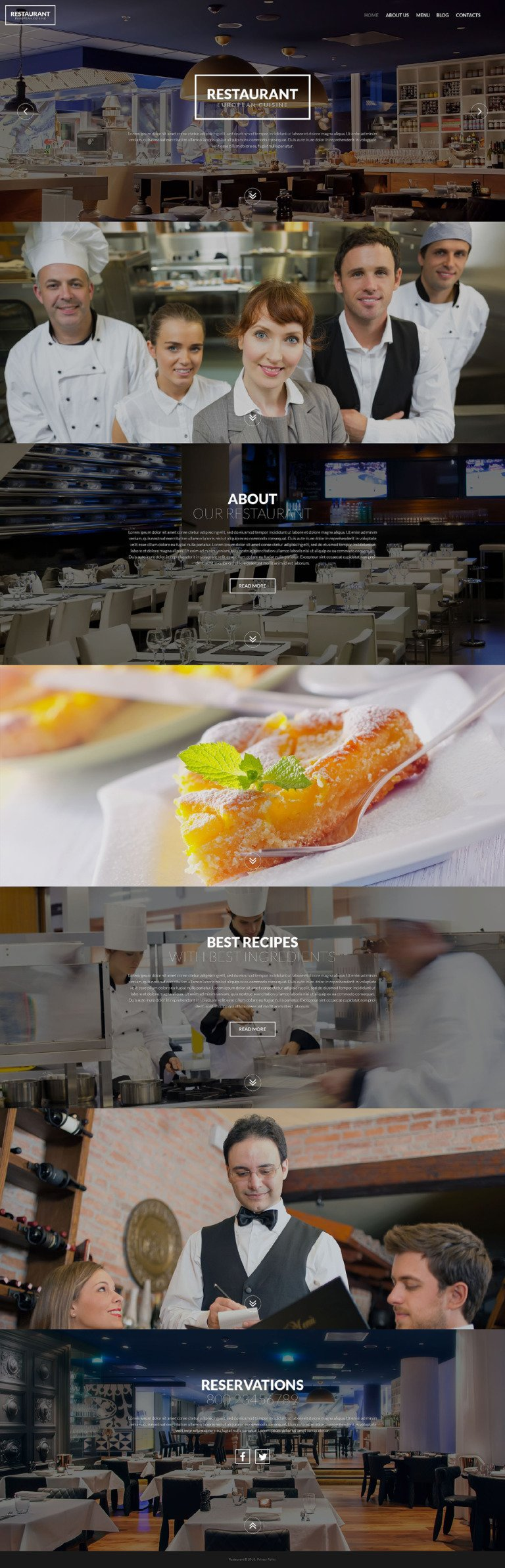 European Restaurant WordPress Theme New Screenshots BIG