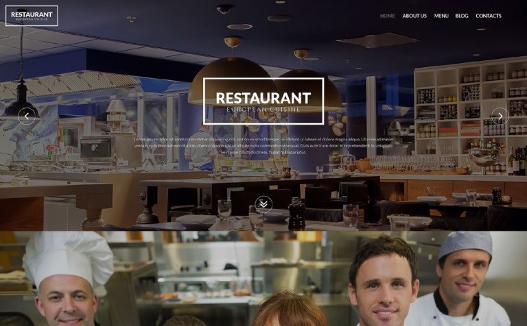 European Restaurant WordPress Theme
