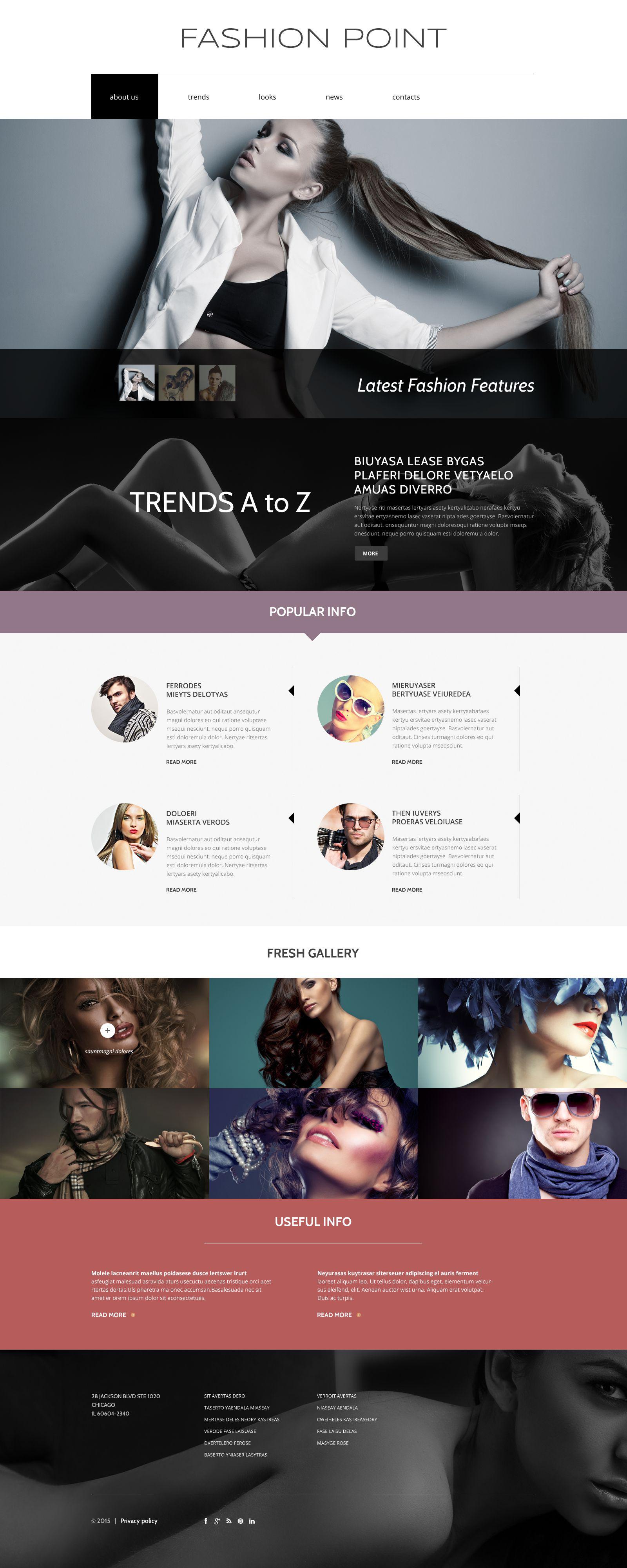 """Fashion Agency"" 响应式Drupal模板 #53557"