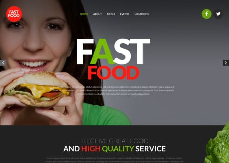 Fast Food Restaurant Responsive