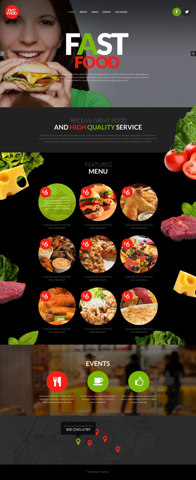Fast Food Restaurant Responsive Website Template New Screenshots BIG