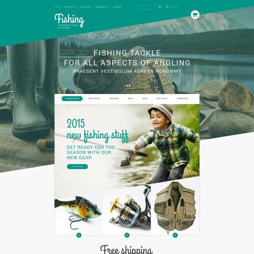Fishing Online Store - PrestaShop Template based on Bootstrap