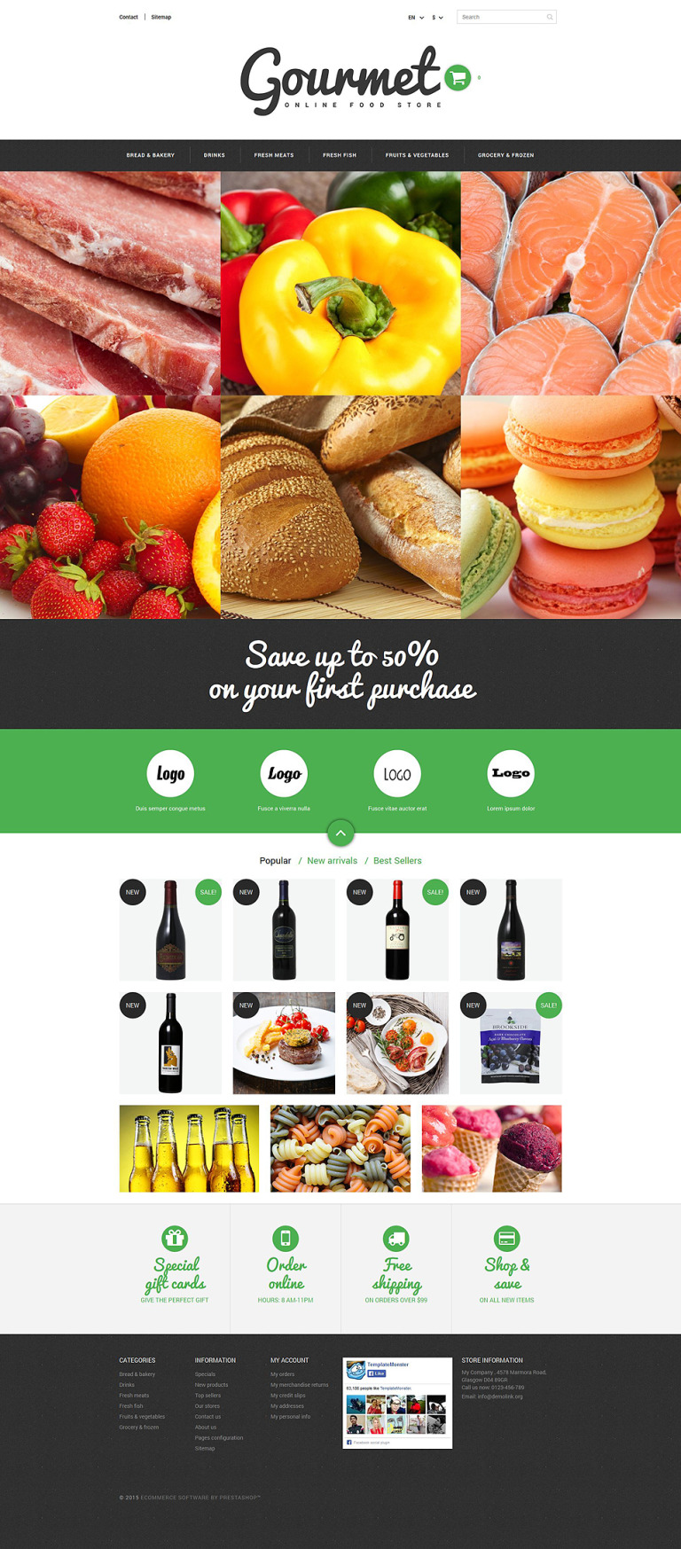 Food Shop PrestaShop Theme New Screenshots BIG