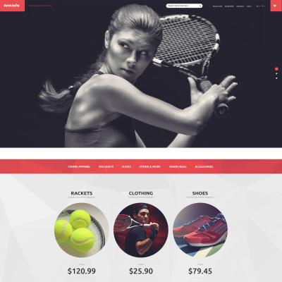 Responsives Magento Theme für Tennis