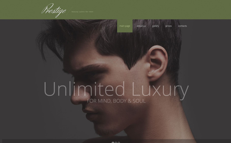 Male Beauty Salon Website Template